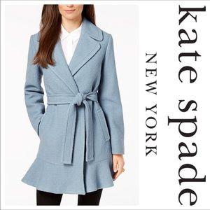 kate spade new york Ruffled Wrap Coat size XL